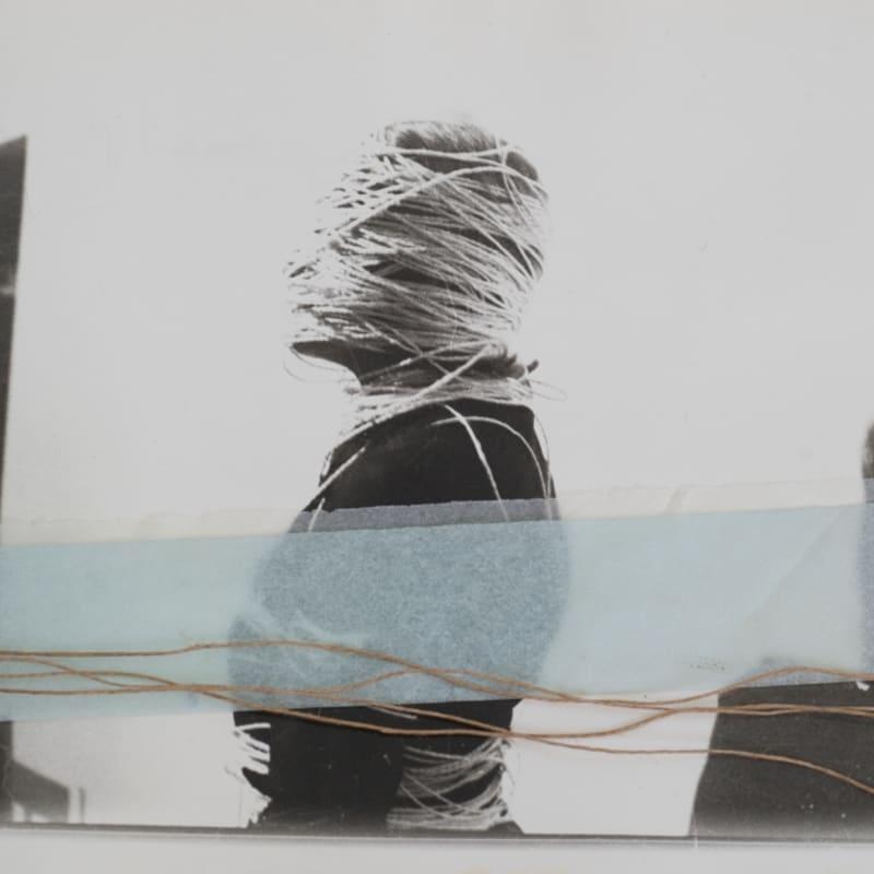 Françoise Janicot L'encoconnage Photographie argentique et collage de papier calque et cordes 24 x 18 cm