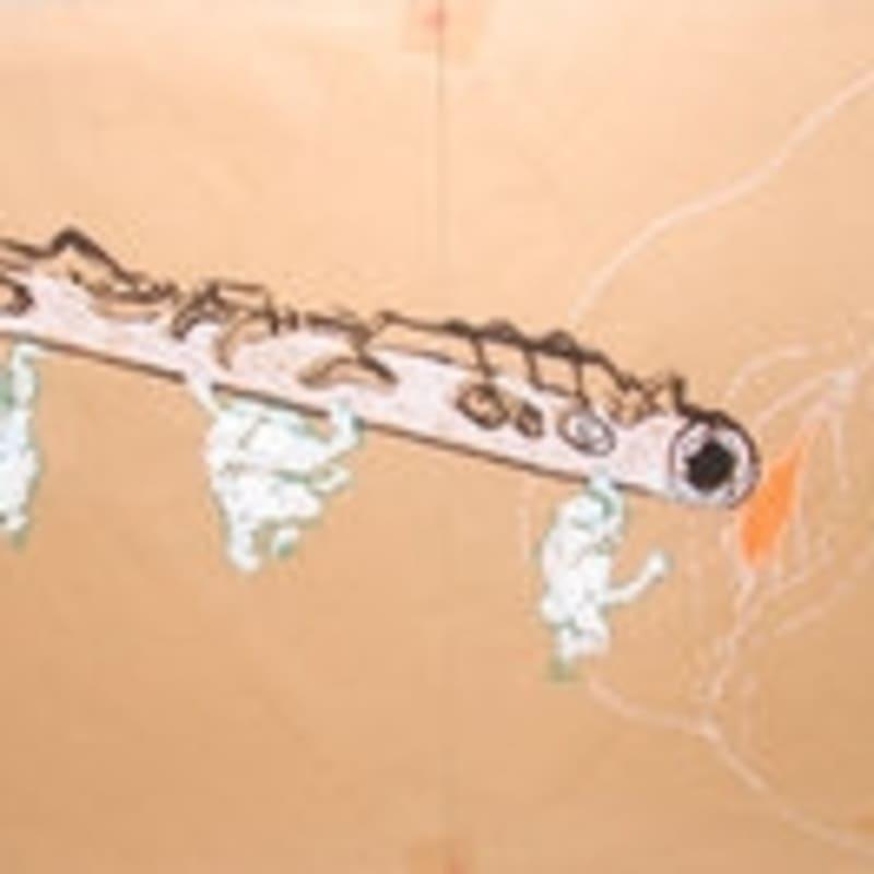 Sébastien Pignon Série des dessins-enveloppes crayon, feutre, aquarelle et encre sur papier 24 x 35 cm