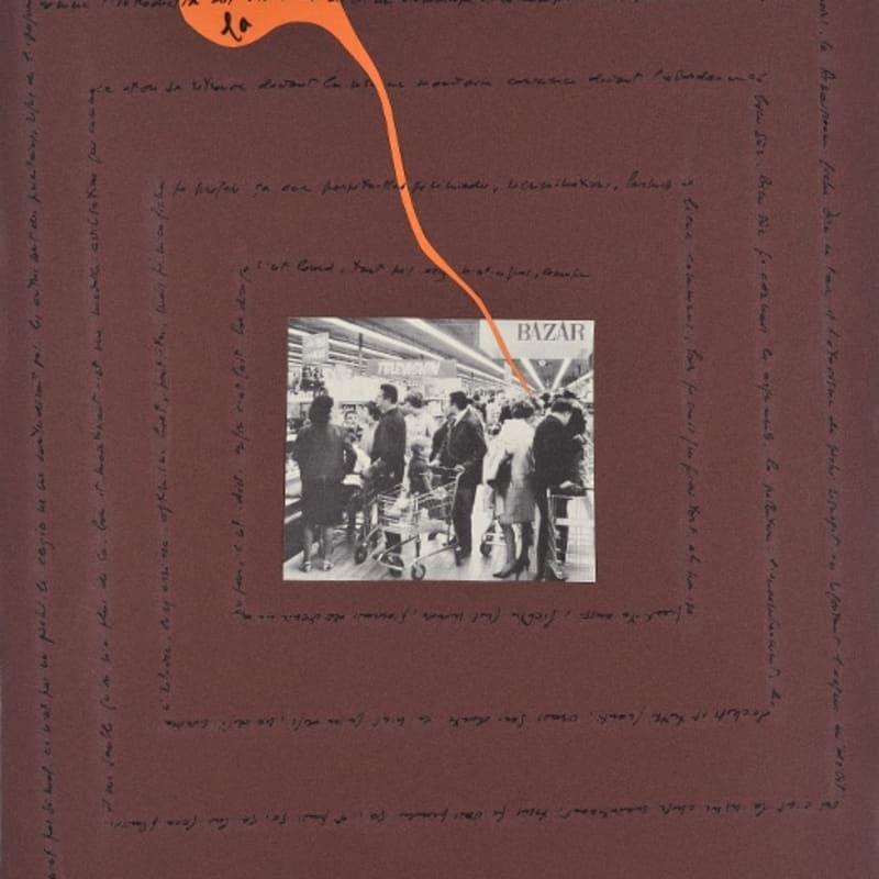 Bernard Heidsieck Foule n° 31 écritures et collages de photos de foules sur papier 54 x 40 cm (disponible) 54 x 40 cm (available)