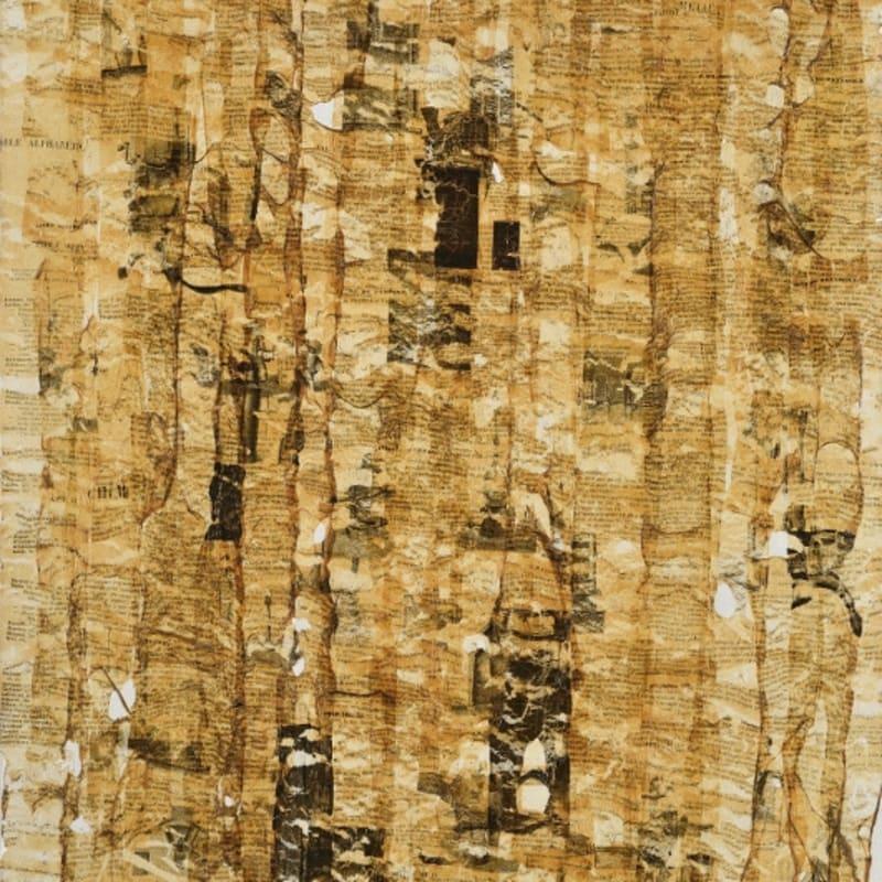 Gil Joseph Wolman Sans titre (Propriétés chimiques) art scotch sur toile 81 x 54 cm