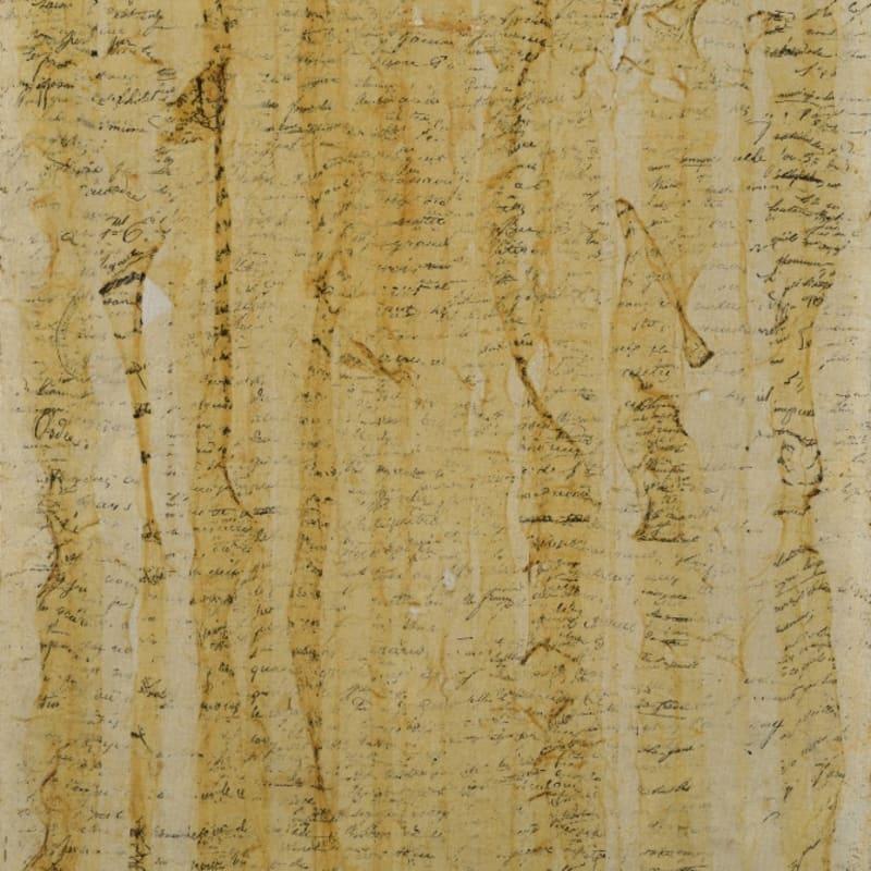 Gil Joseph Wolman Sans titre (Ecritures) art scotch sur toile 55 x 46 cm