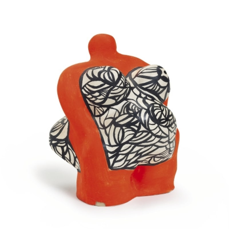 Niki De Saint Phalle Nana orange résine peinte 13,3 x 10,2 x 10,8 cm (archives)