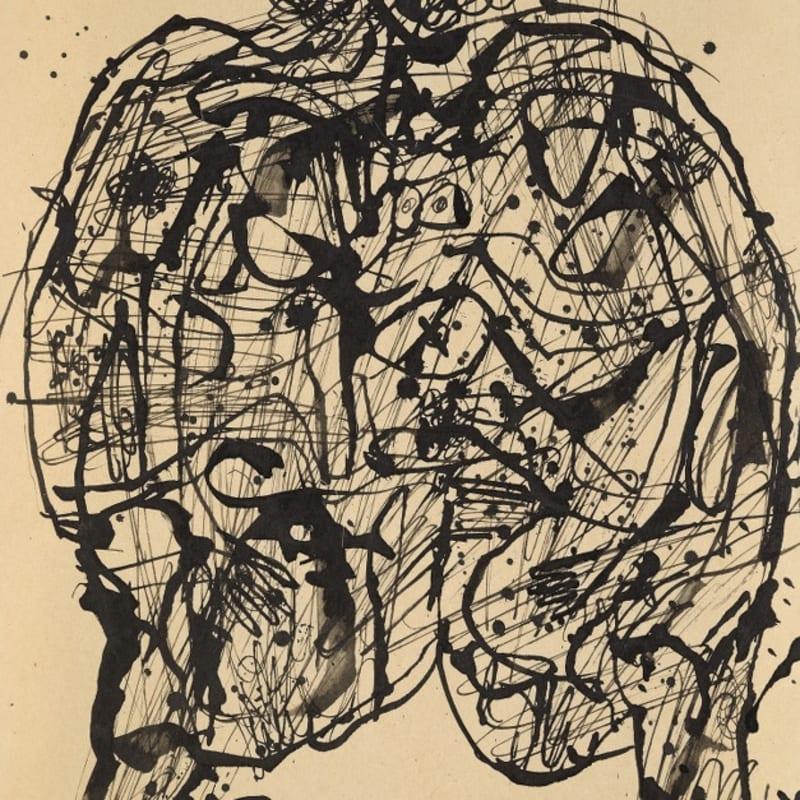 Jean Dubuffet Corps de dame dessin à l'encre de chine sur papier 27 x 21,3 cm (archives)