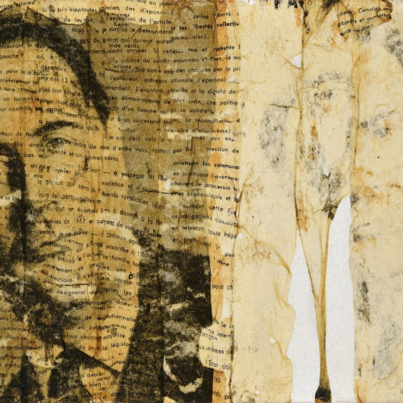 Gil Joseph Wolman Mitterrand art scotch sur toile 22 x 32,2 cm (archives)