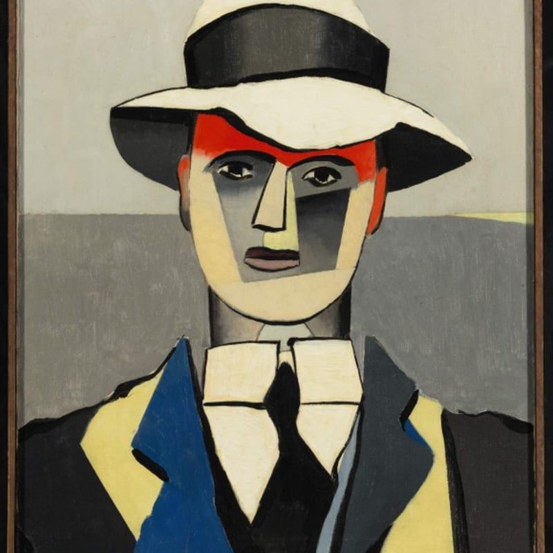 Jean Helion L'Homme au front rouge huile sur toile 63,5 x 53,6 cm (archives)
