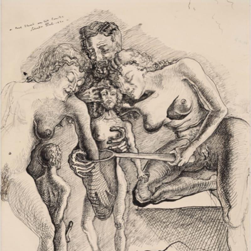 Salvador Dalí La femme visible, La chasse aux papillons encre sur papier collé sur carton 27,8 x 22 cm (disponible) 27,8 x 22 cm
