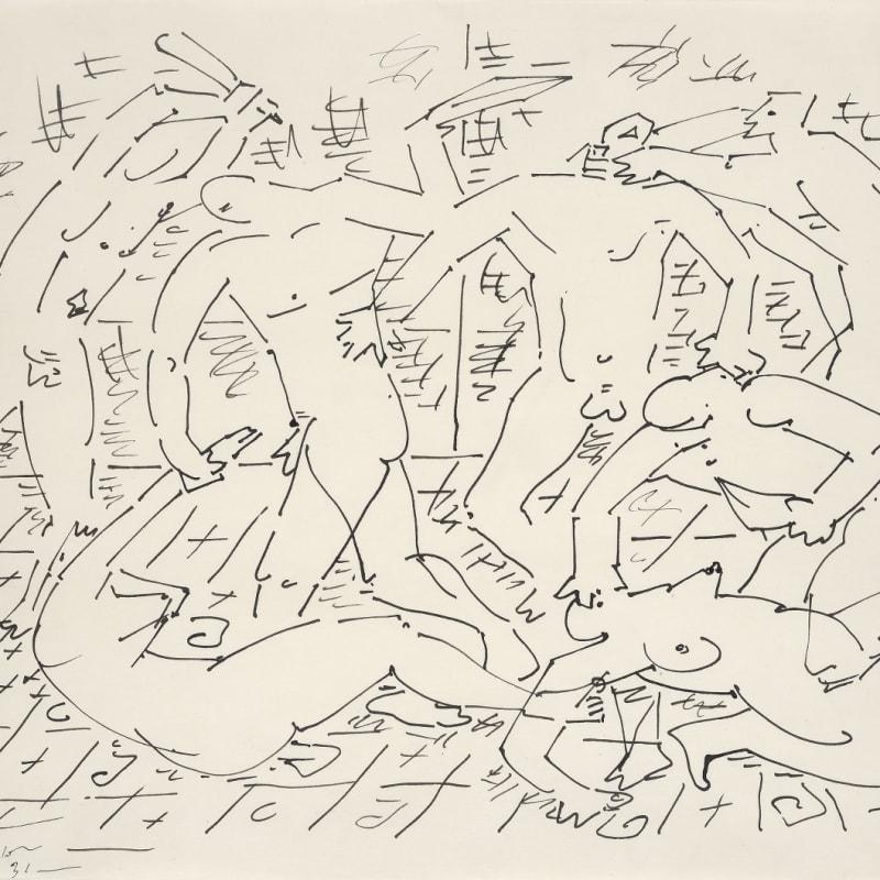 André Masson Massacre dessin à l'encre de chine 35 x 32 cm (disponible) 35 x 32 cm (available)