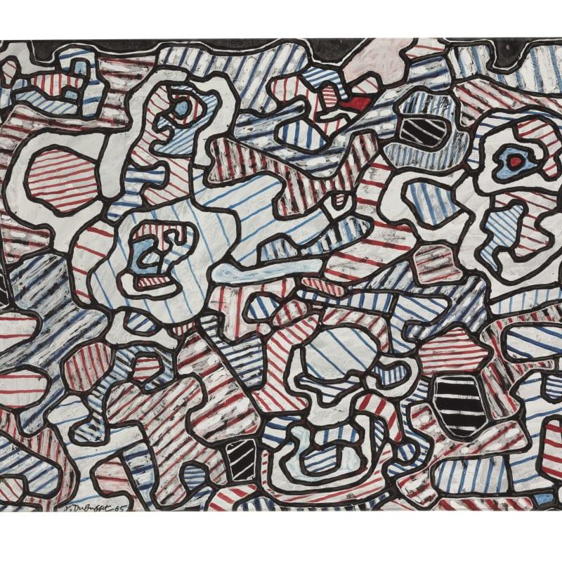 Jean Dubuffet Cafetière, tasse et soucoupe, sucrier vinyle sur papier monté sur toile 50.1 x 68.5 cm (archives) 50.1 x 68.5 cm