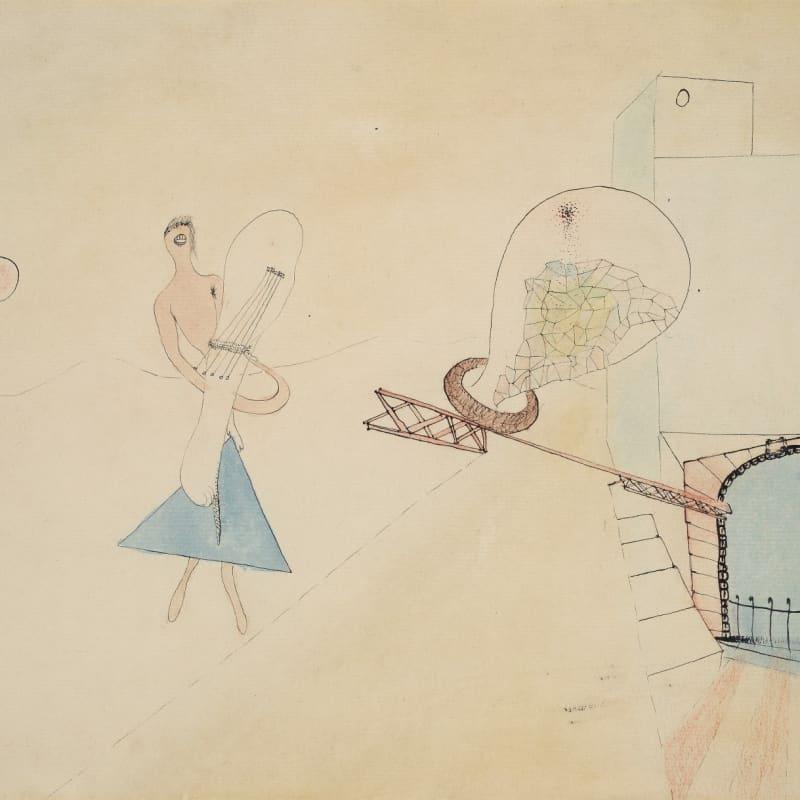Wols Caliopé aquarelle et encre de chine sur papier 23.6 x 31.1 cm
