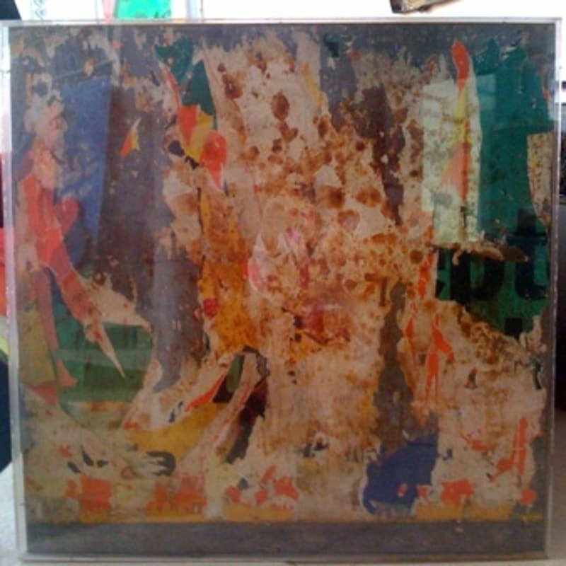 Raymond Hains Sans titre Tôle lacérée 100 x 101 cm