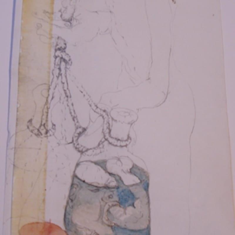 Sébastien Pignon Série des dessins-enveloppes crayon, feutre, aquarelle et encre sur papier 17,2 x 11,6 cm