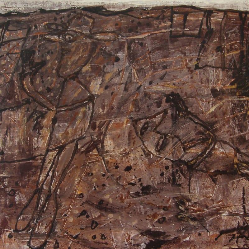 Jean Dubuffet Paysage désorienté Huile sur toile 65 x 81 cm (disponible) 65 x 81 cm (available)