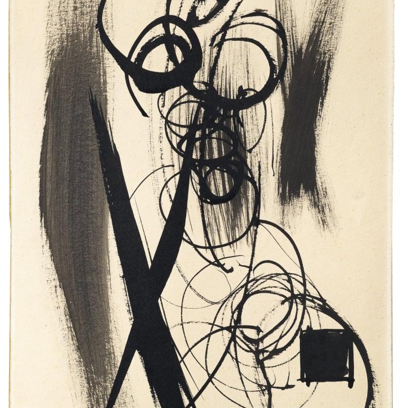 Hans Hartung Sans titre encre sur papier 37 x 24.8 cm 14,25 x 9,75 in