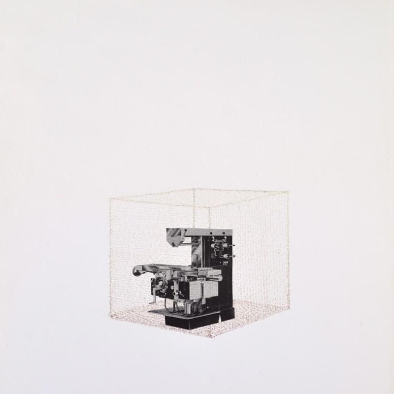 Bernard Heidsieck Machine à mots n° 34 écriture et collage de photographie sur papier 64 x 50 cm (disponible) 3 1/2 in. (available)
