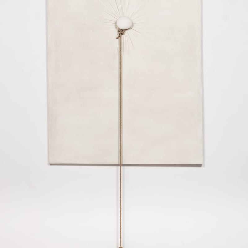 Nobuo Sekine Phase of Nothingness - Cloth and Stone tissu, pierre et corde 160 x 100 x 20 cm 63 x 39 3/8 x 7 7/8 in.