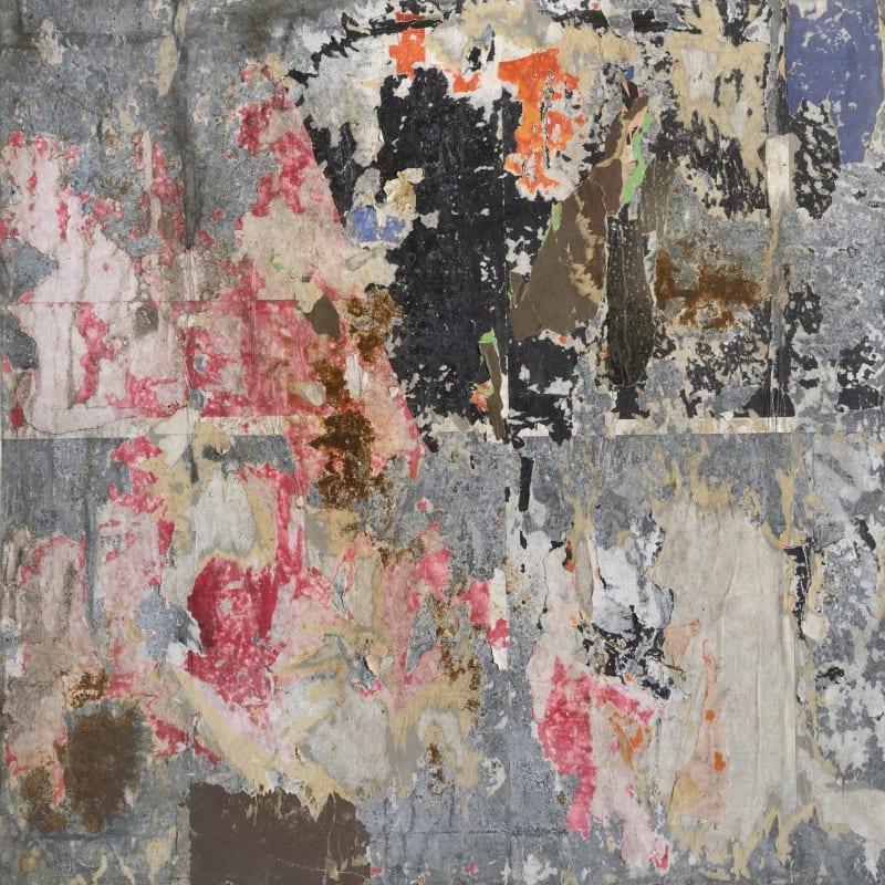 Raymond Hains Sans titre affiches lacérées sur tôle 84 x 84 cm (archives)
