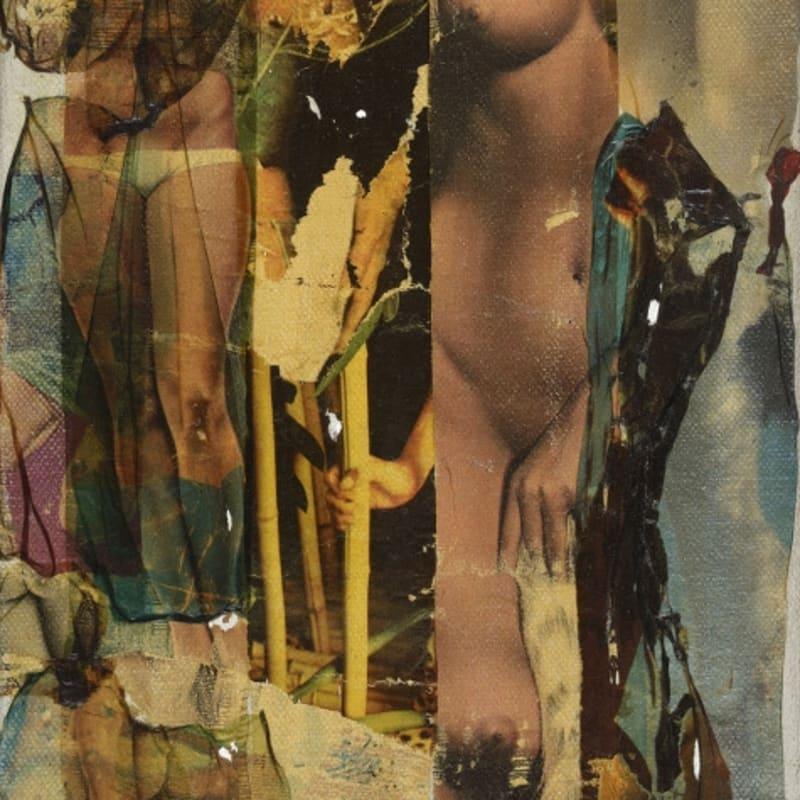 Gil Joseph Wolman Sans titre (Corps) art scotch sur toile 27,2 x 16 cm 13 by 16 in.