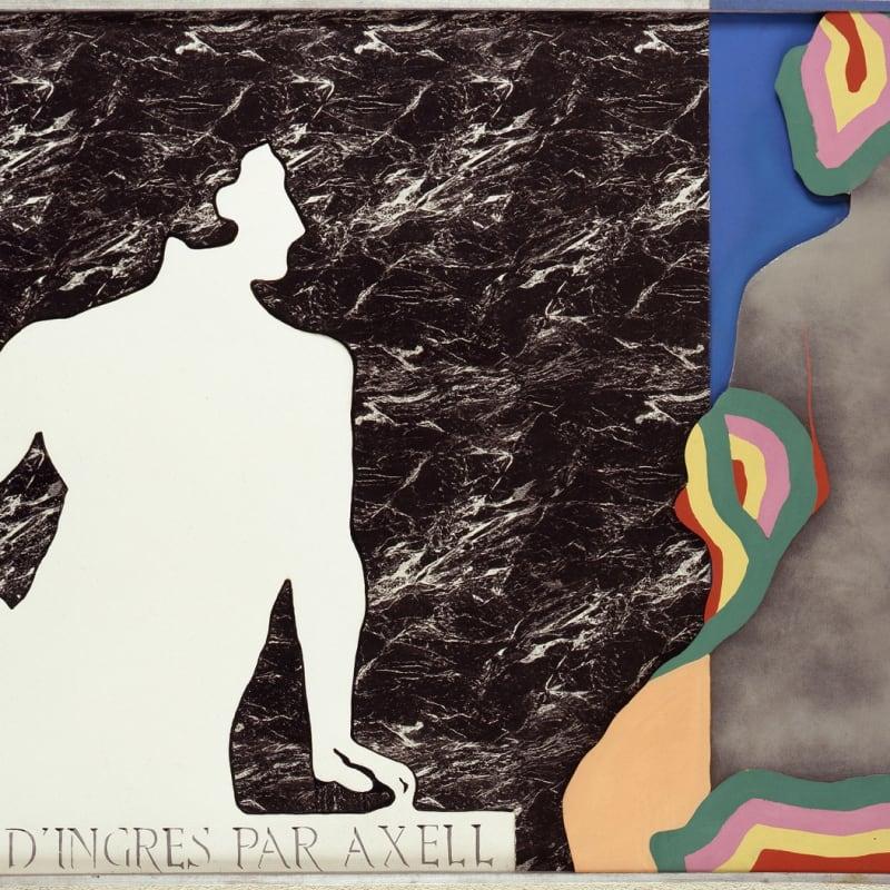 Evelyne Axell Le viol d'Ingres Huile sur toile, émail, formica et polyester 132 x 202 cm