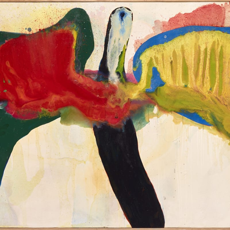 Sadamasa Motonaga Work 145 huile et résine synthétique sur canvas 136,3 x 274,4 cm 53 5/8 x 108 1/8 in.
