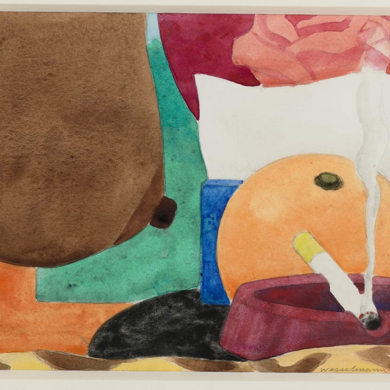 Tom Wesselmann Drawing for bedroom painting #13 liquitex et crayon sur papier 14,6 x 17,8 cm