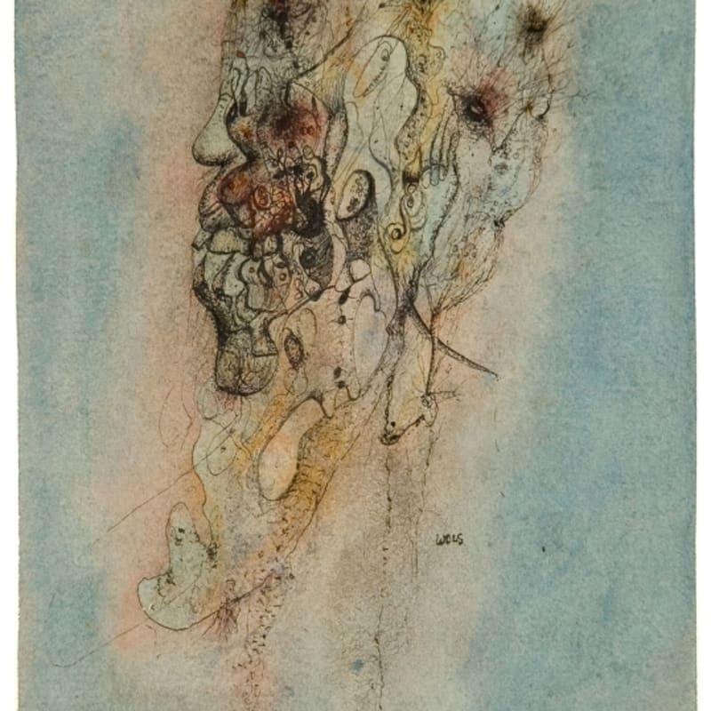 Wols Tête aquarelle et gouache sur papier 16.5 x 12.5 cm 45 5/8 by 32 1/8 in.