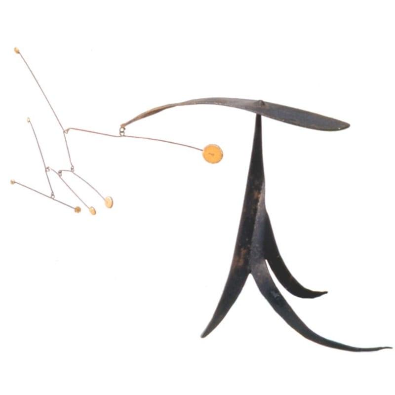 Alexander Calder Curves (Archives N°A13603) stabile mobile métal peint et fil de fer 20 x 23 cm