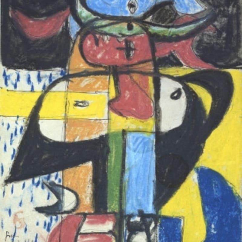 Charles-Edouard Le Corbusier Taureau pastel, stylo bille, gouache et mine de plomb sur papier 32,8 x 22,8 cm