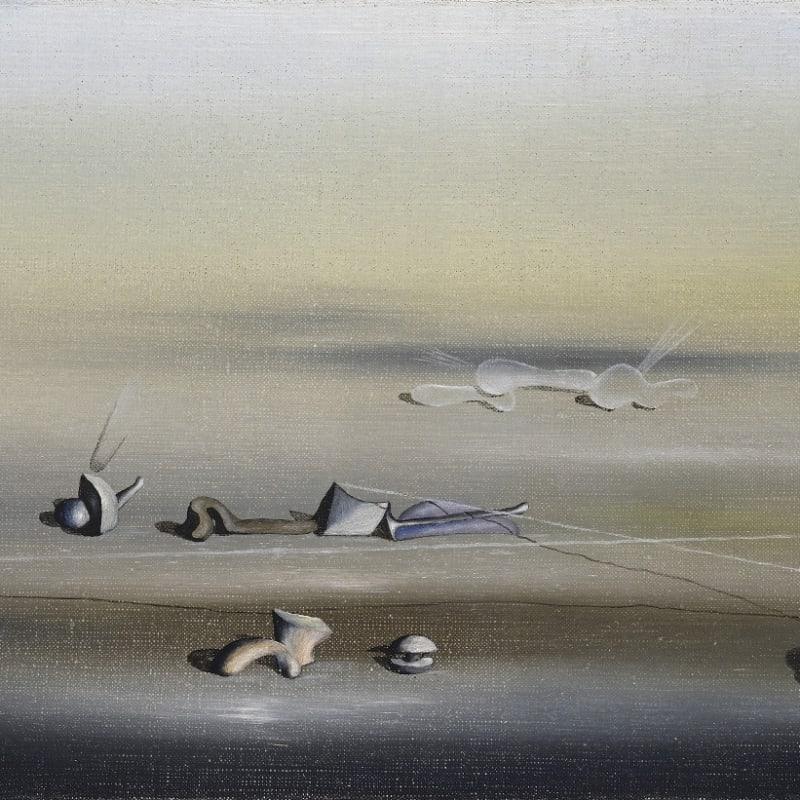 Yves Tanguy Sans titre huile sur toile 16 x 27 cm 1 7/8 by 14 in.