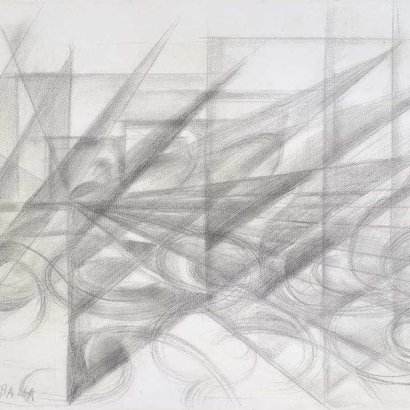 Giacomo Balla Dynamisme automobile dessin à la mine de plomb sur papier 48 x 61 cm (disponible) 4 1/8 by 5 1/8 in. (available)