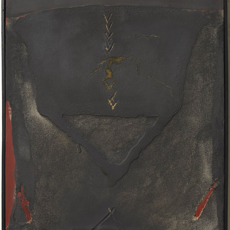 Antoni Tapies Materia sobre tela huile et sable sur toile 81,3 x 54,5 cm 32 1/8 x 21 1/2 in