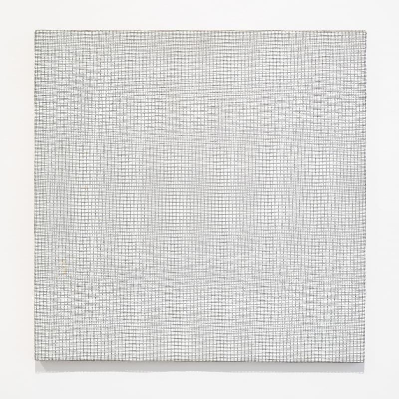 François Morellet Deux trames de grillage -2+2 Fil de fer, bois, peinture 60 x 60 cm 23 1/2 x 23 1/2 in.