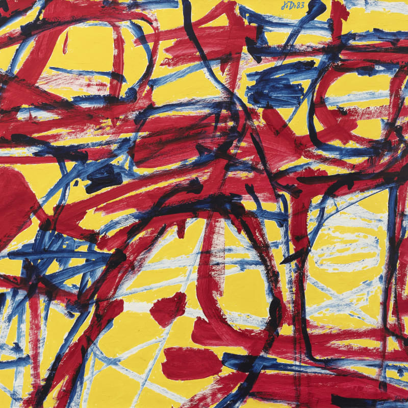Jean Dubuffet Mire G37 (kowloon) Acrylique sur papier entoilé 67 x 100 cm 25 19/32 x 39 3/8