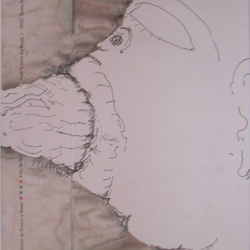 Sébastien Pignon Série des dessins enveloppes dessin au crayon, feutre, aquarelle et encre 23 x 16 cm