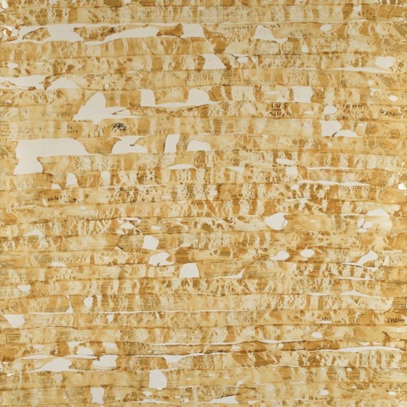 Gil Joseph Wolman Sans titre (Apollinaire) art scotch sur toile 162 x 114 cm