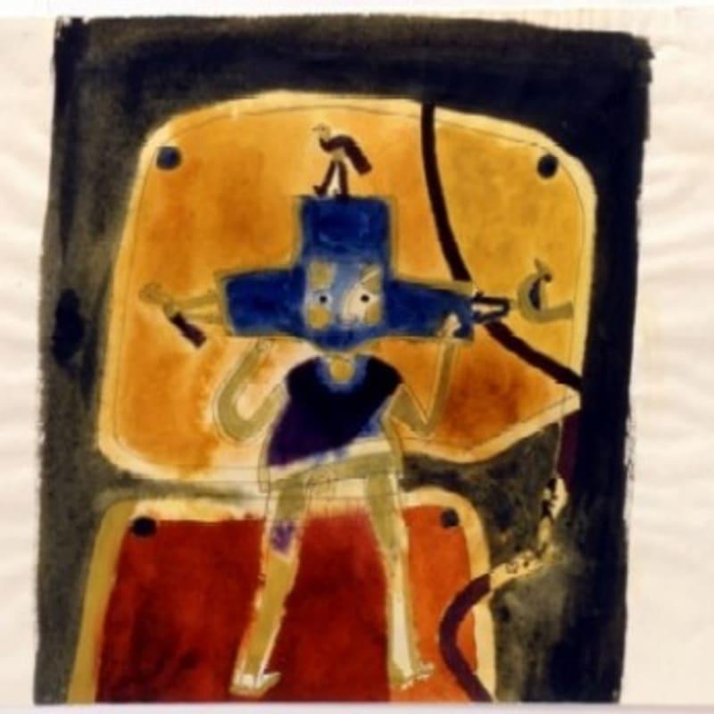 Francis Toledo Benda shini guchi (snake use as a grinstone) encre et aquarelle sur papier 30,8 x 24,2 cm (disponible) 30,8 x 24,2 cm (available)