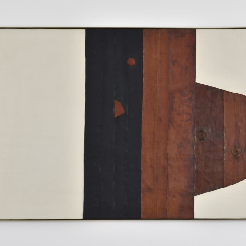 Carol Rama Spazio anche più che tempo collage de pneus en caoutchouc sur toile 50 x 70 cm 19.69 x 27.56 in