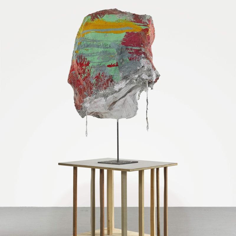 Franz West Untitled Papier-mâché, acrylique, lacque, gaze, acier et support en bois 202 x 89 x 64,5 cm 79 1/2 x 35 1/16 x 25 3/8 in.