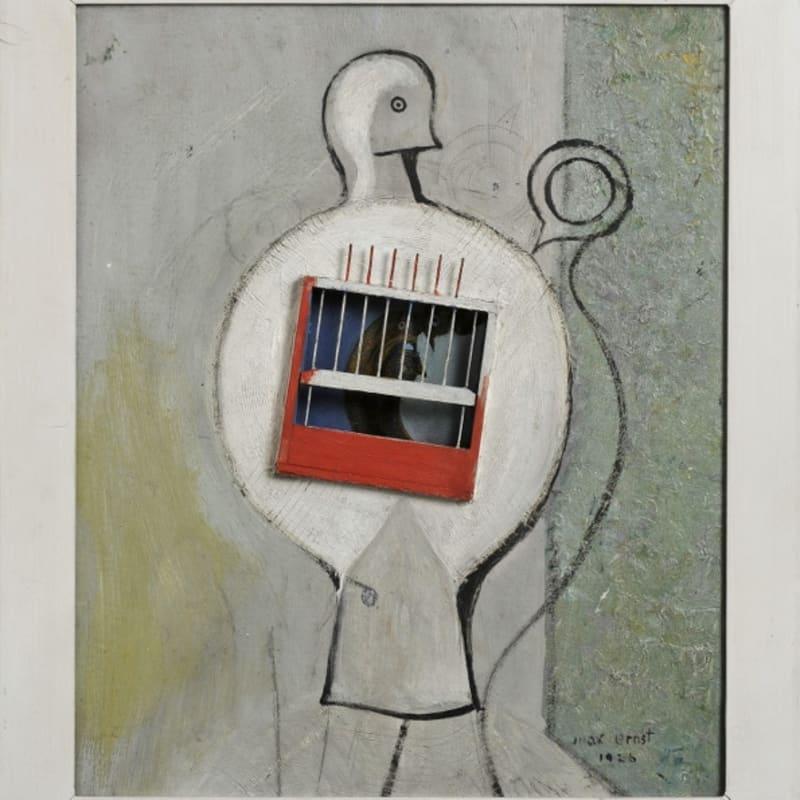 Max Ernst La colombe avait raison huile et assemblage sur carton, bois et fils métalliques 42 x 35 cm (archives)