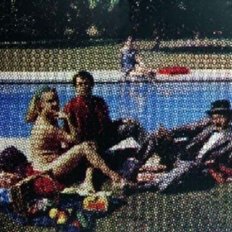 Alain Jacquet Déjeuner sur l'herbe (dyptique) Encres chromatiques sur toile 175 x 195 cm 68 7/8 by 76 3/4 in.