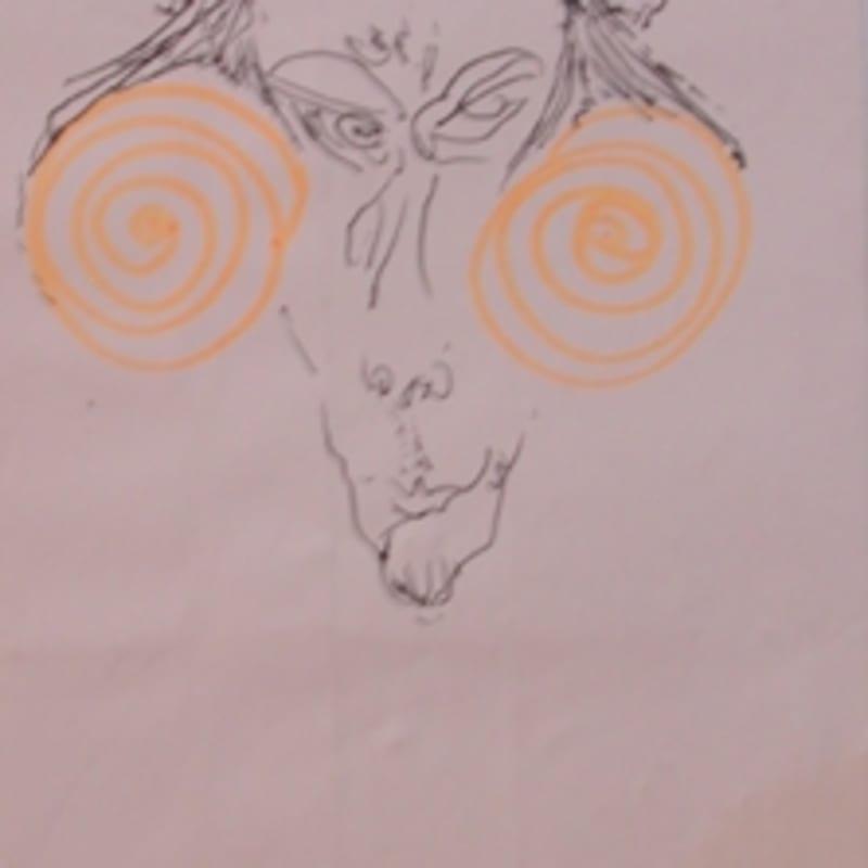 Sébastien Pignon Série des dessins-enveloppes crayon, feutre, aquarelle et encre sur papier 23,5 x 12 cm 3 3/8 by 2 1/2 in.