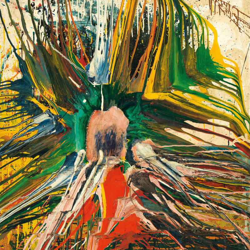 Shozo Shimamoto Untitled huile sur toile 89,5 x 79,2 cm