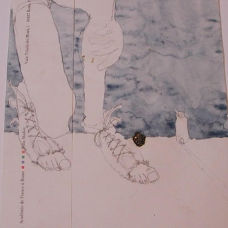 Sébastien Pignon Série des dessins enveloppes crayon, feutre, aquarelle et encre 23.8 x 16.1 cm 31 7/8 by 39 3/8 in.