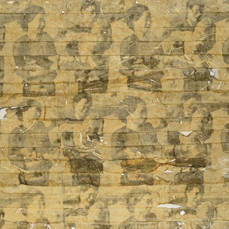 Gil Joseph Wolman Sans titre (Vietnam) art scotch sur toile 60 x 81 cm (disponible) 60 x 81 cm (available)