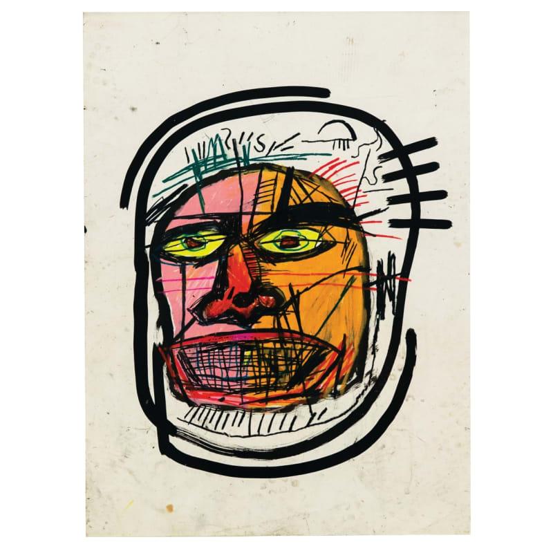 Jean-Michel Basquiat Untitled (Head) Encre et pastel gras sur papier 76,2 x 55,9 cm 30 x 22 1/8 in
