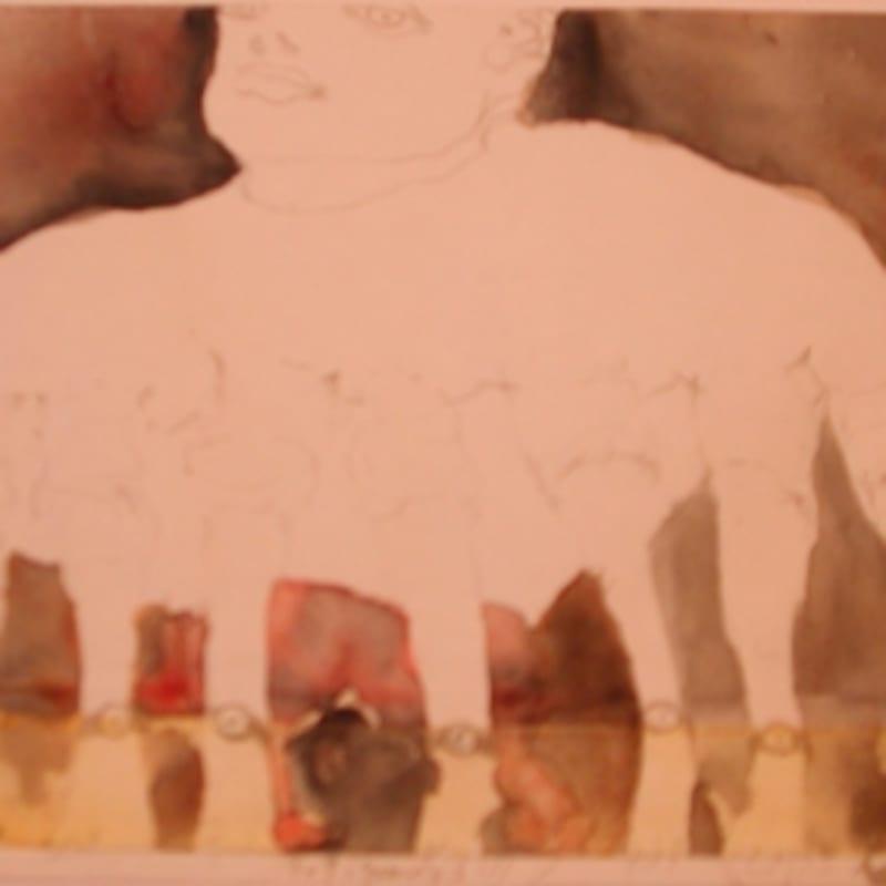 Sébastien Pignon Série des dessins enveloppes dessin au crayon, feutre, aquarelle et encre 12 x 17.7 cm