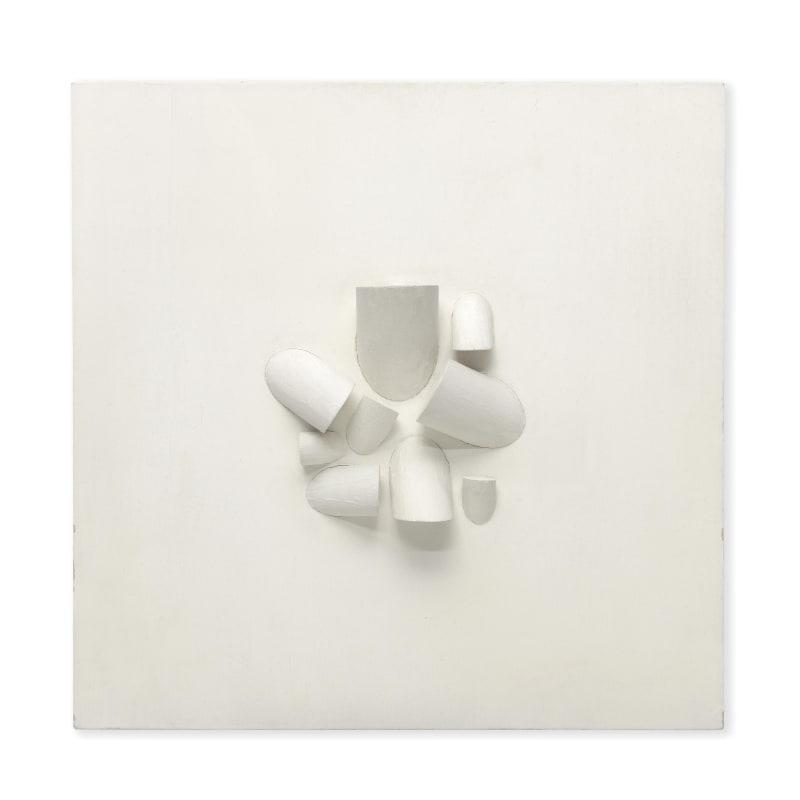 Sergio Camargo Untitled (Relief 205) bois peint 31 x 31,5 x 8 cm 12 3/16 x 12 3/8 x 3 1/8 in.