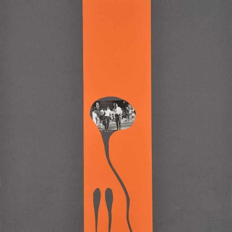 Bernard Heidsieck Foule n° 42 écritures et collage de photos sur papier 54 x 40 cm (disponible) 54 x 40 cm (available)