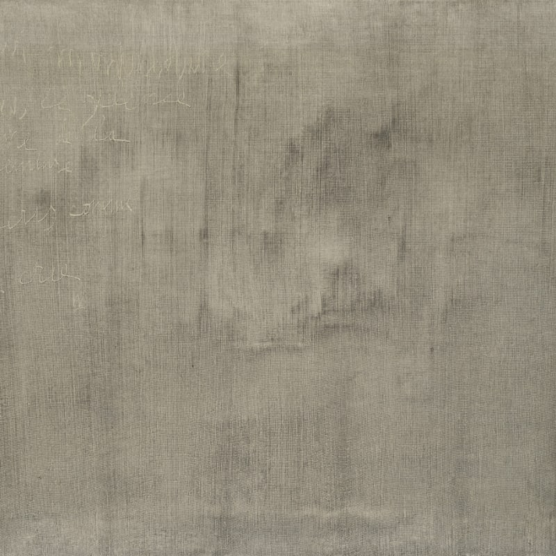 Gil Joseph Wolman Sans titre (Pour m'introduire dans le silence de la peinture, j'écris comme je crie) huile sur toile 64,8 x 81 cm Faux