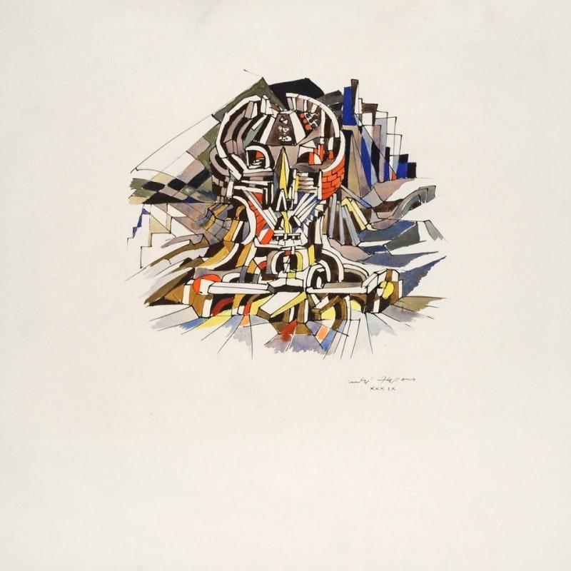 André Masson La ville cranienne encre et gouache sur papier 35 x 44 cm (disponible) 35 x 44 cm