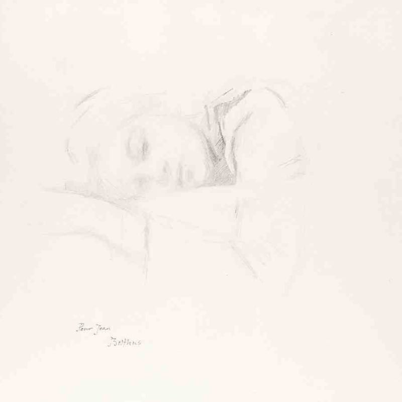 Klossowski De Rola, Dit Balthus Katia Crayon sur papier 63,7x 73 cm 23¾ x 27½ in.